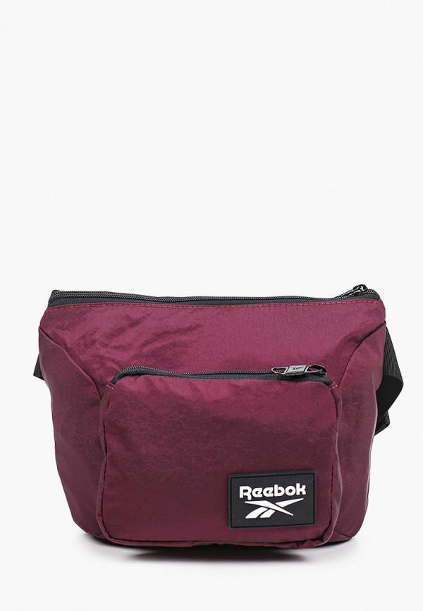 женская сумка reebok, бордовая