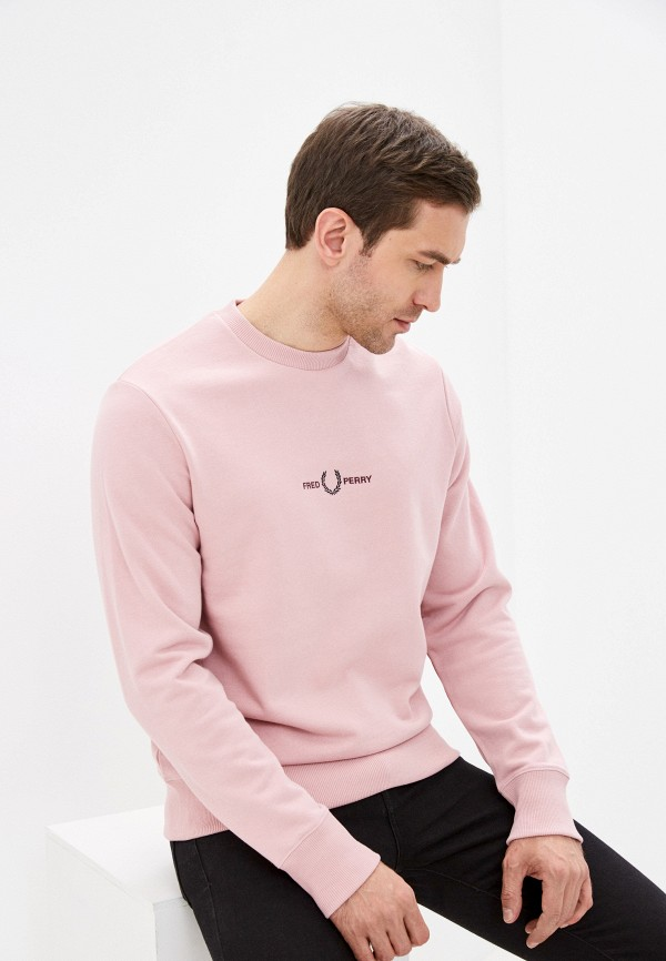мужской свитшот fred perry, розовый