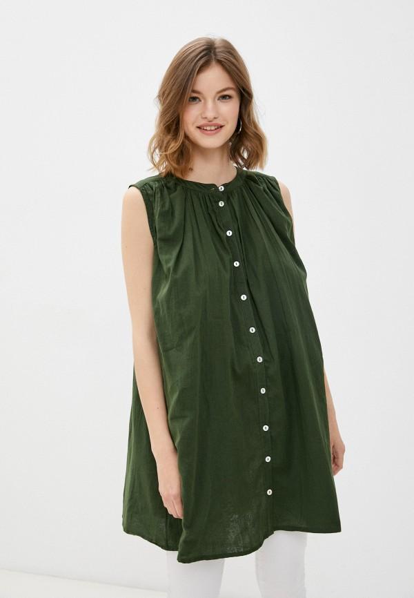 женская туника finn flare, зеленая