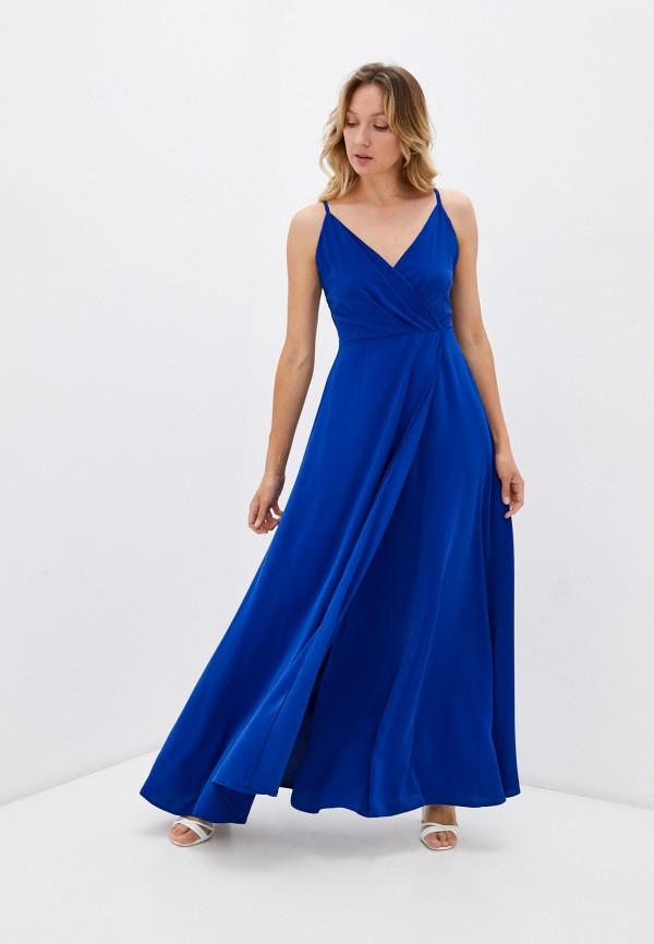женское вечерние платье rene santi, синее