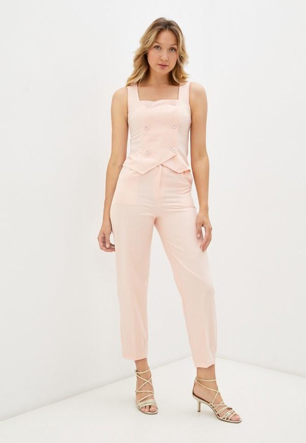 женский костюм rene santi, розовый