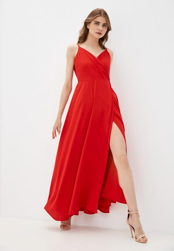 женское вечерние платье rene santi, красное