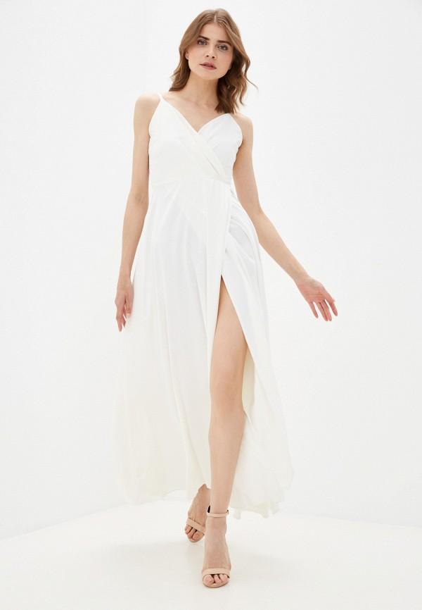 женское вечерние платье rene santi, белое