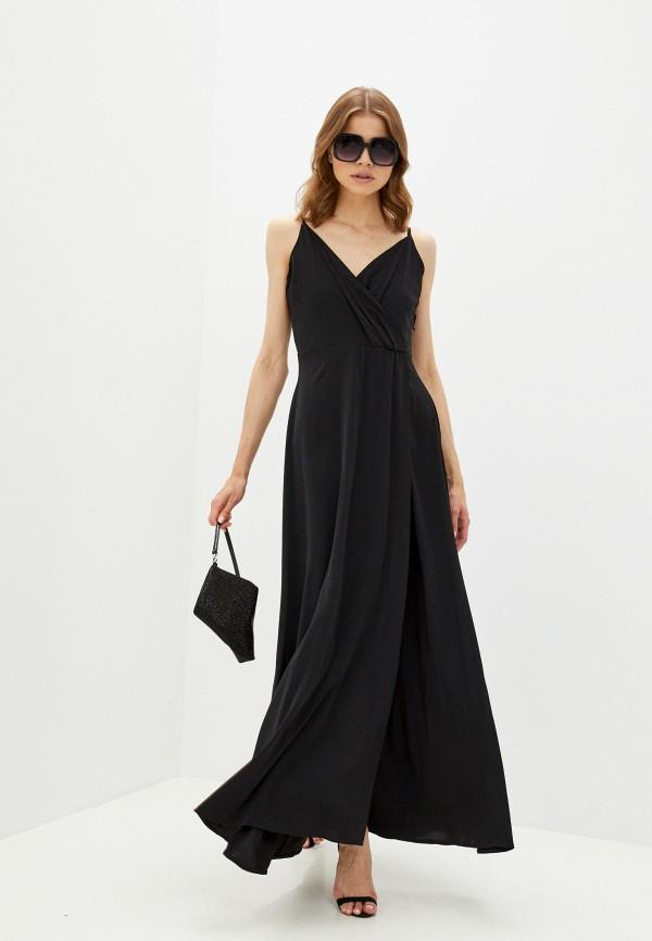 женское вечерние платье rene santi, черное