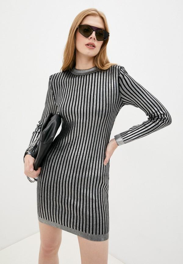 женское платье-свитеры balmain, серебряное