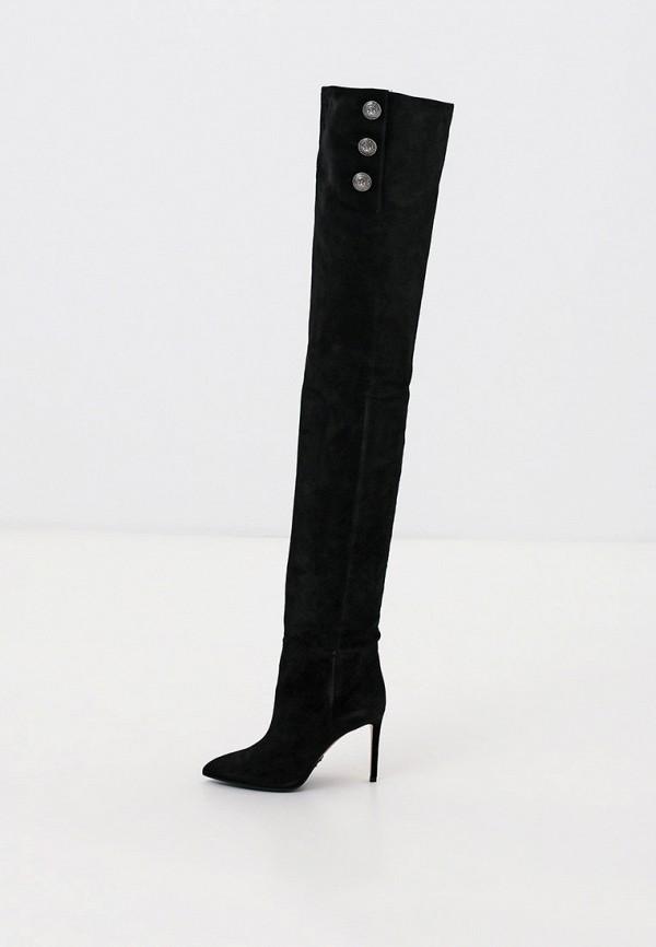 женские ботфорты balmain, черные