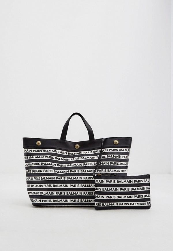 женская косметичка-шоперы balmain, черная
