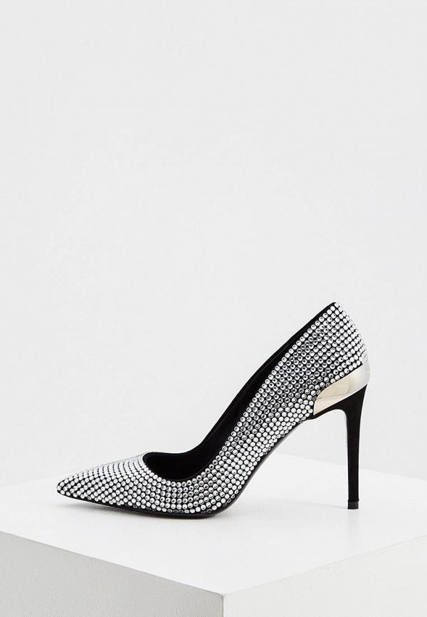 женские туфли-лодочки balmain, серебряные
