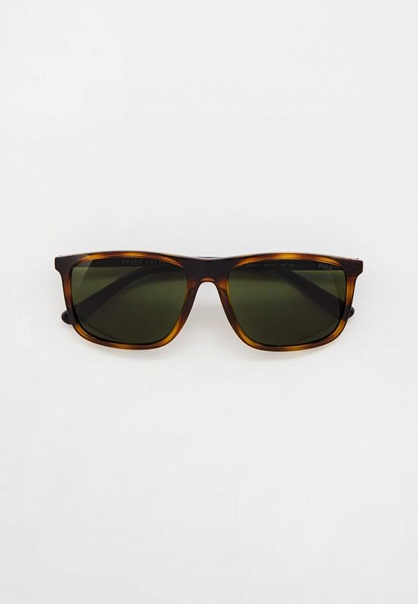 мужские квадратные солнцезащитные очки polo ralph lauren, коричневые