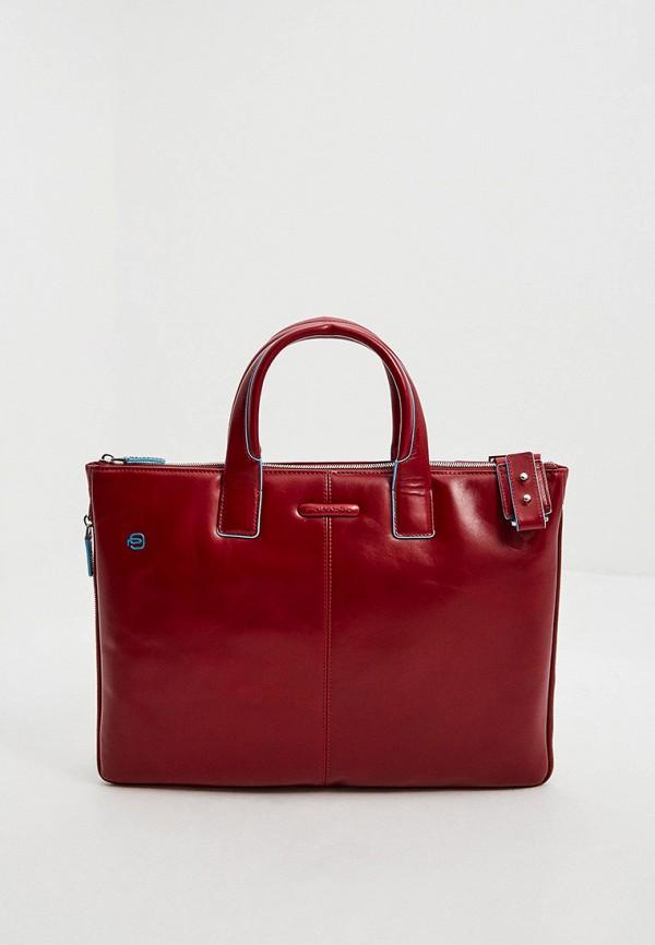 мужская сумка piquadro, бордовая