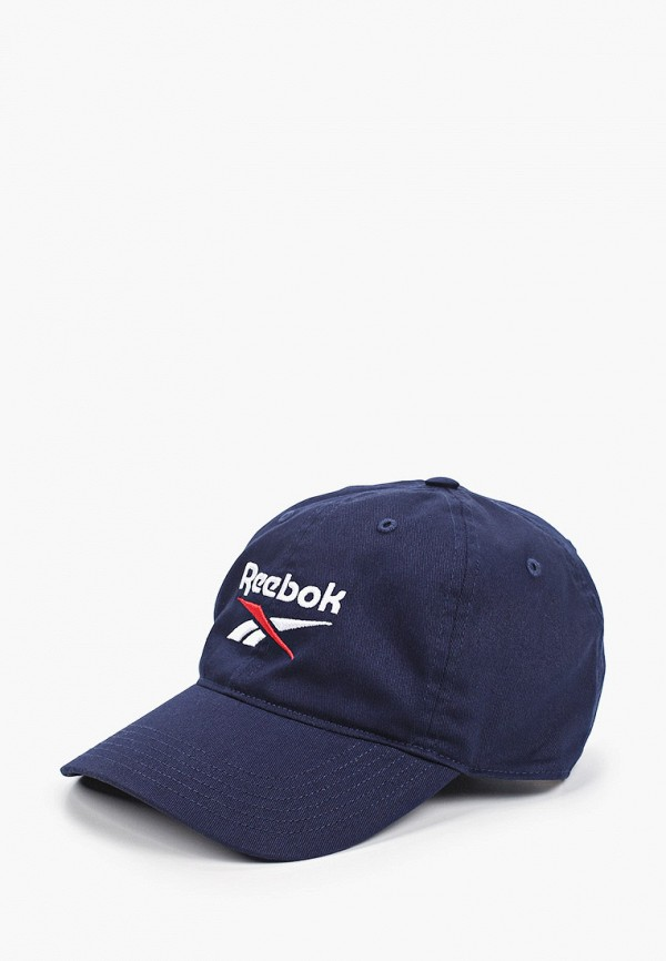 женская бейсболка reebok, синяя