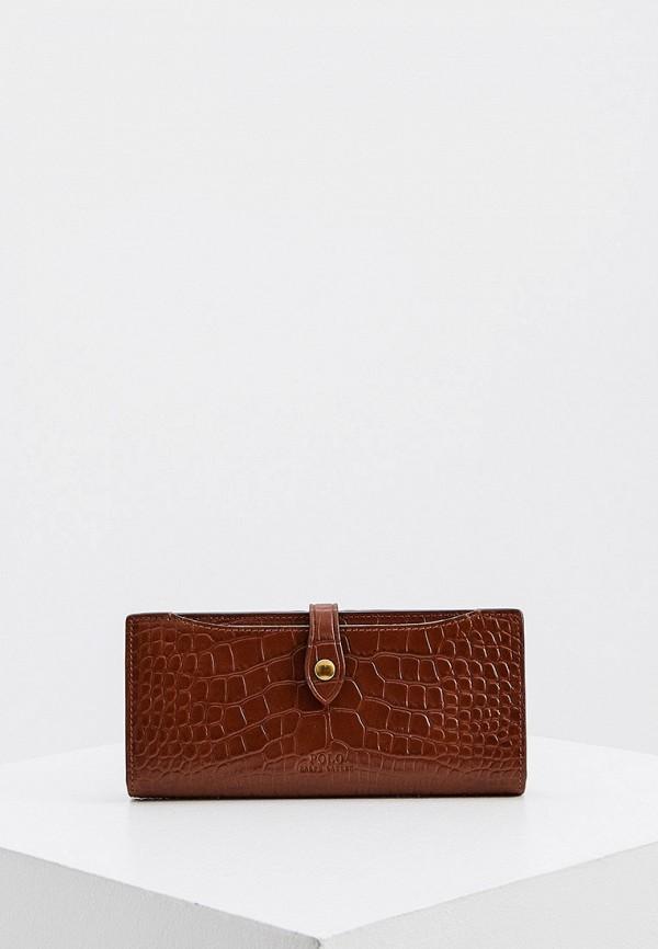 женский кошелёк polo ralph lauren, коричневый