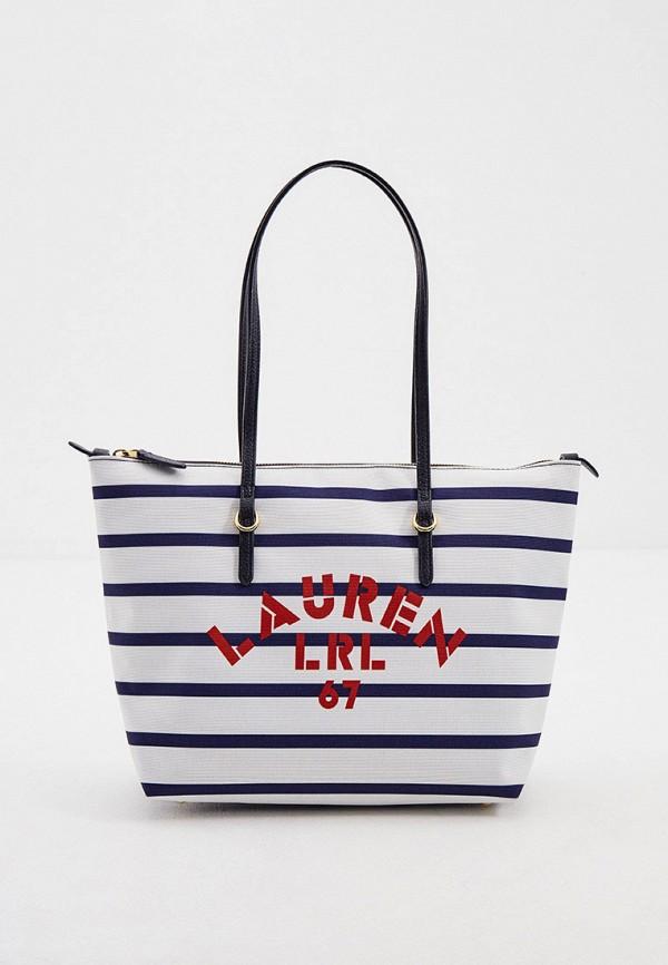 женская сумка-шоперы lauren ralph lauren, синяя