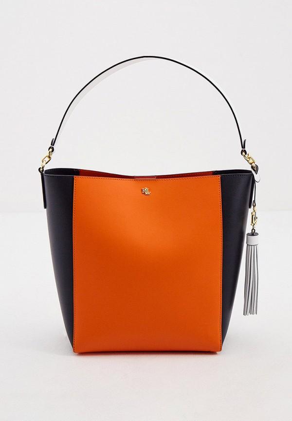 женская сумка lauren ralph lauren, оранжевая