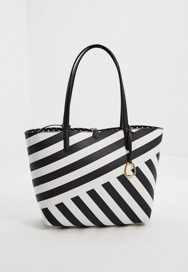 женская сумка-шоперы lauren ralph lauren, разноцветная
