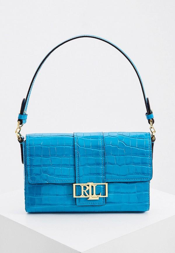 женская сумка lauren ralph lauren, голубая