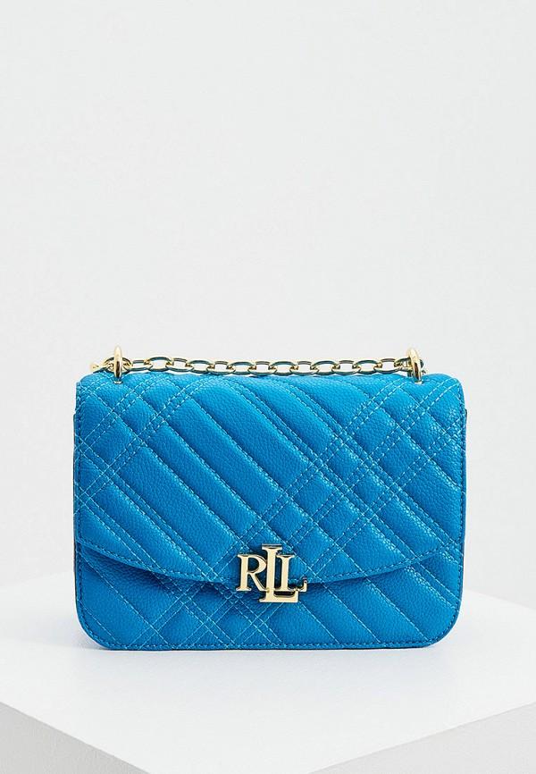 женская сумка lauren ralph lauren, синяя