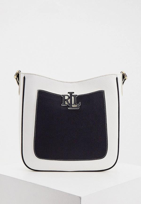 женская сумка lauren ralph lauren, белая