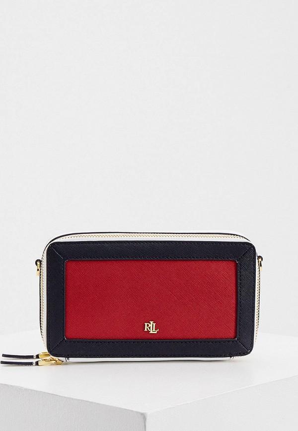 женская сумка через плечо lauren ralph lauren, разноцветная