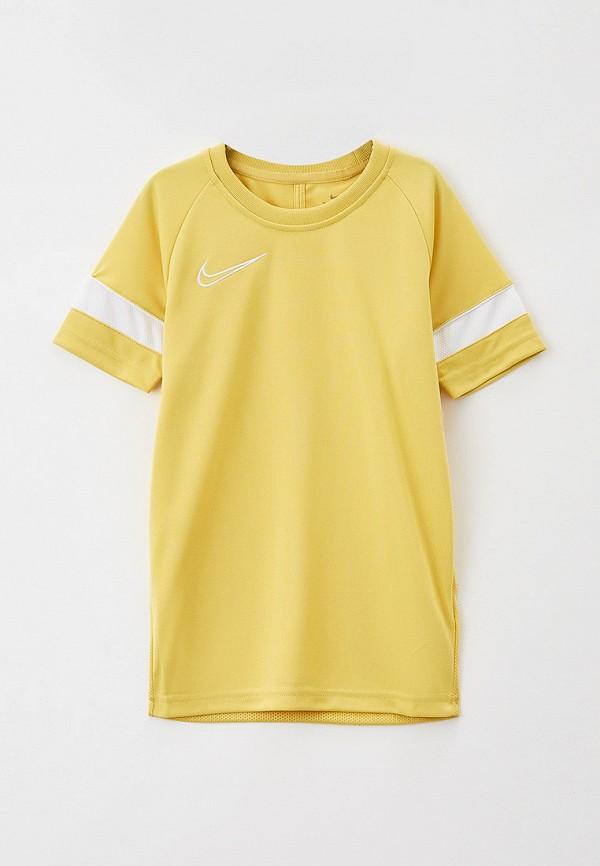 футболка с коротким рукавом nike малыши, желтая