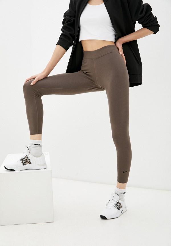 женские спортивные леггинсы nike, коричневые