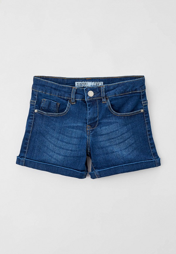 джинсовые шорты tiffosi для девочки, синие