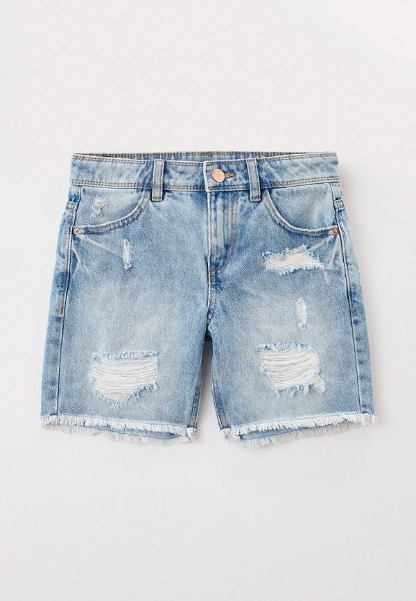 джинсовые шорты marks & spencer для девочки, голубые