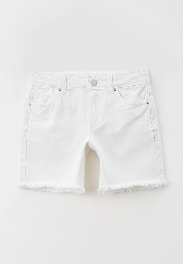 джинсовые шорты marks & spencer для девочки, белые