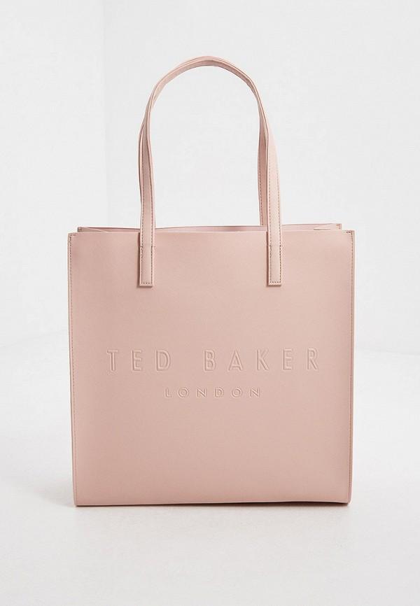 женская сумка-шоперы ted baker london, розовая