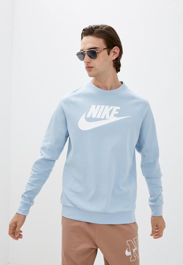 мужской спортивные свитшот nike, голубой