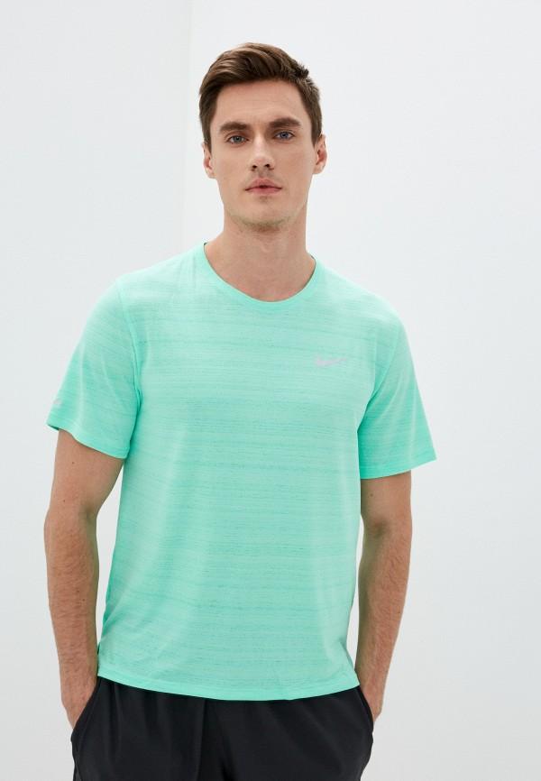 мужская спортивные футболка nike, бирюзовая