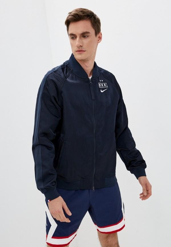 мужская куртка бомбер nike, синяя