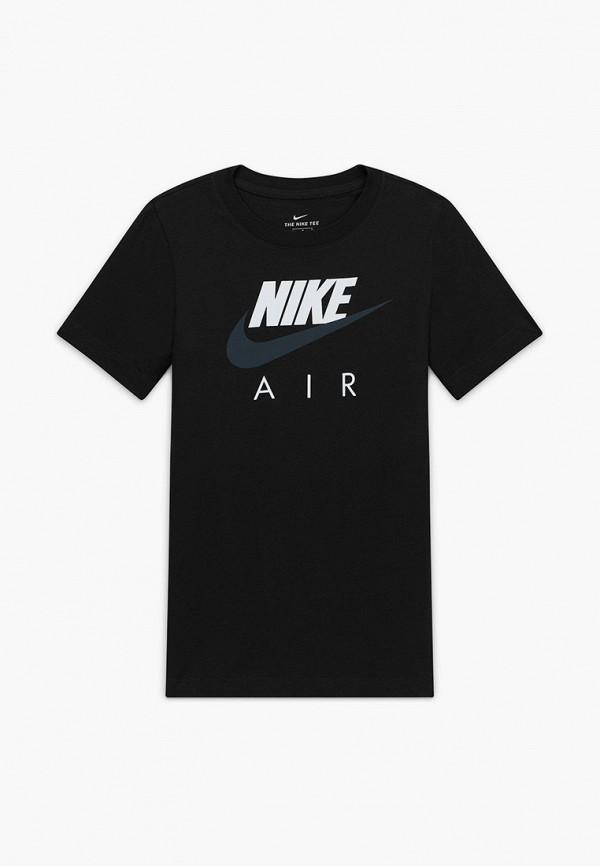 футболка с коротким рукавом nike для мальчика, черная