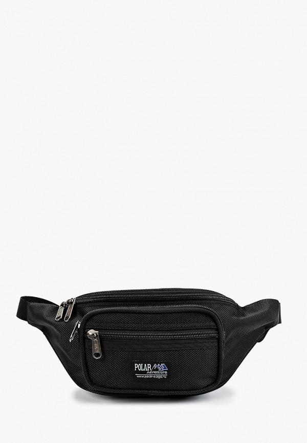 женская поясные сумка polar, черная