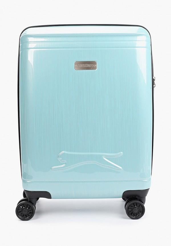 женский чемодан polar, бирюзовый