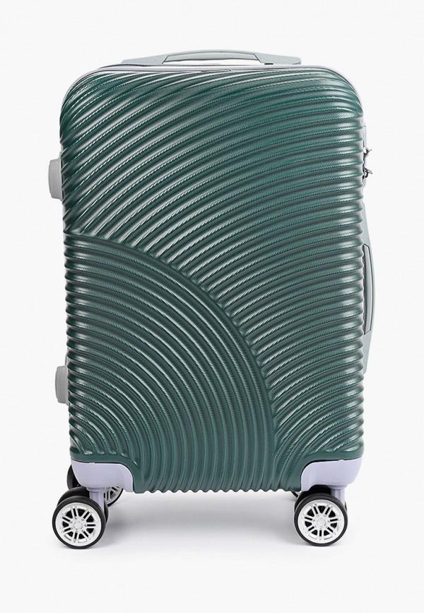женский чемодан polar, зеленый