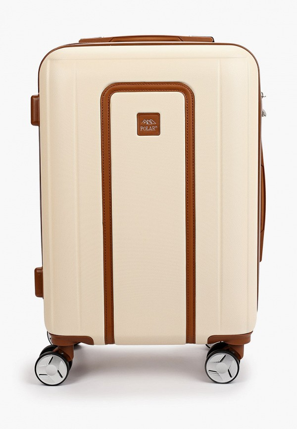 женский чемодан polar, бежевый