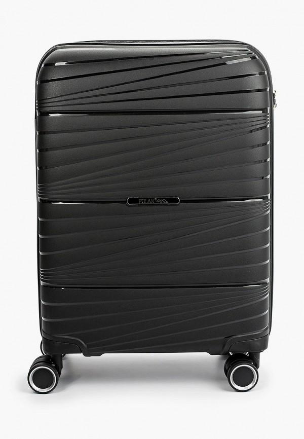 женский чемодан polar, черный