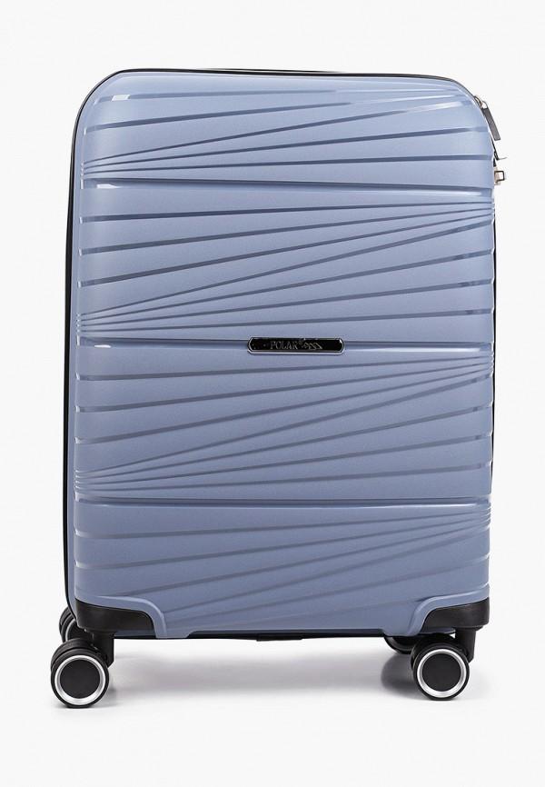 женский чемодан polar, голубой