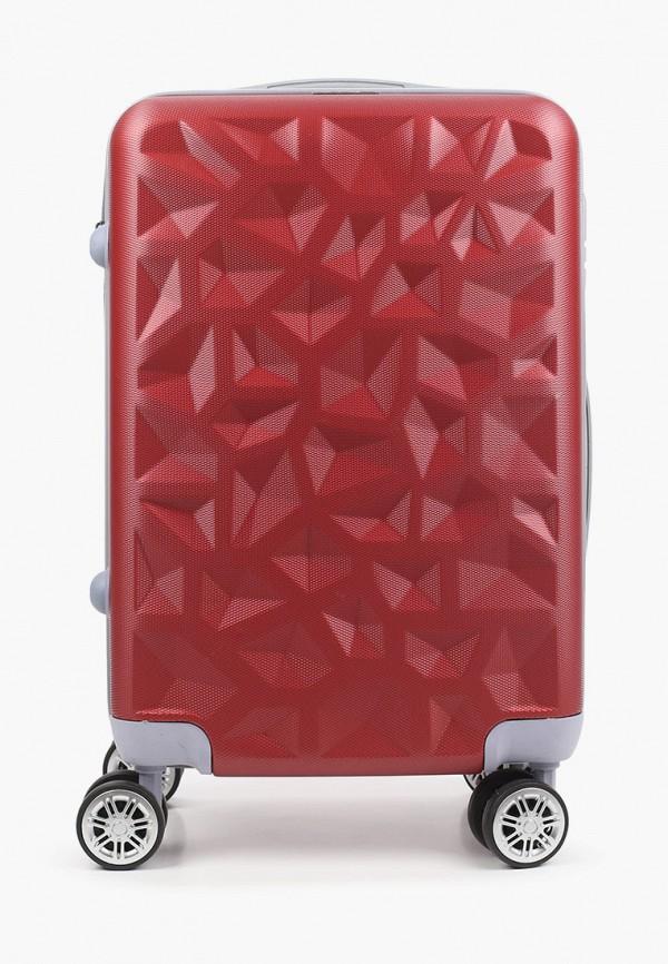 женский чемодан polar, бордовый