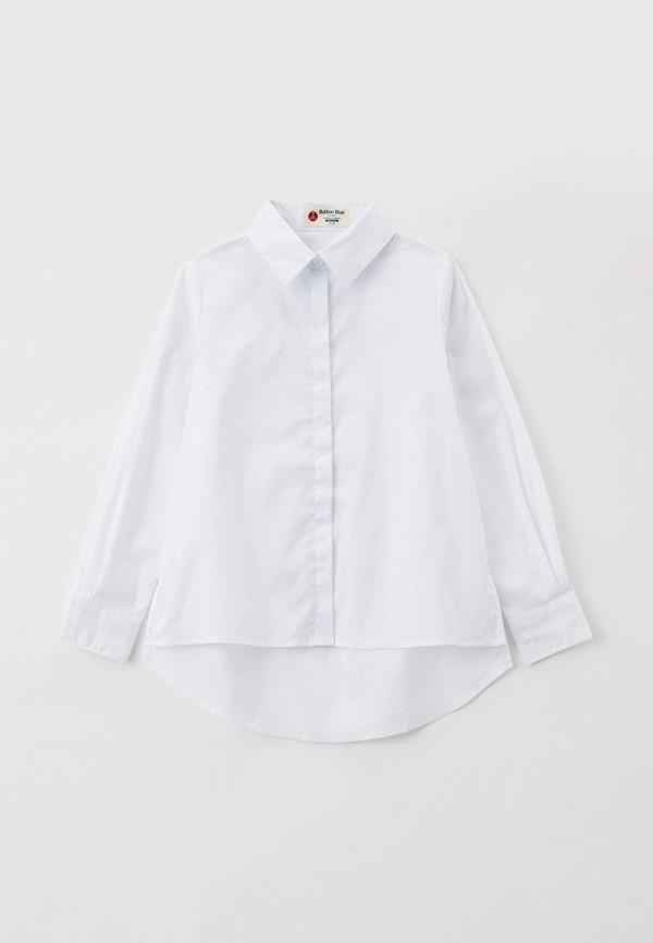 рубашка button blue для девочки, белая