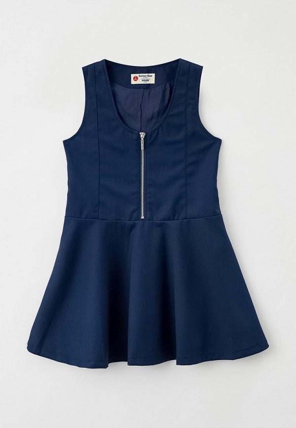 сарафан button blue для девочки, синий