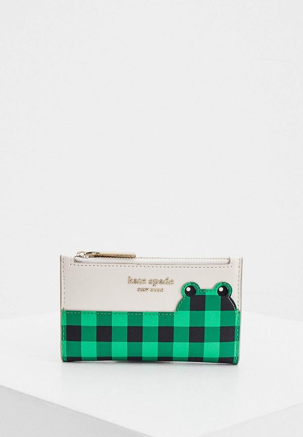 женский кошелёк kate spade, зеленый