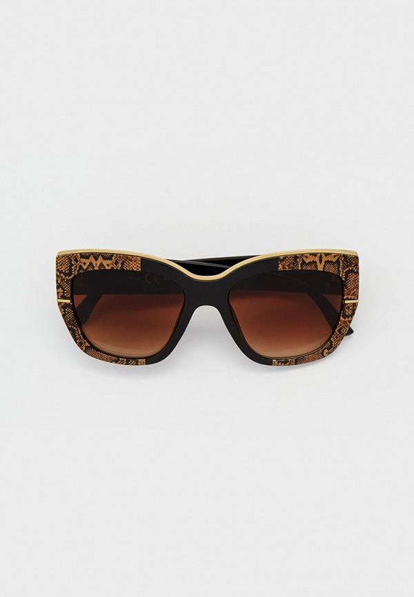 женские солнцезащитные очки кошачьи глаза river island, коричневые