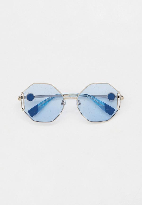 женские солнцезащитные очки furla, серебряные