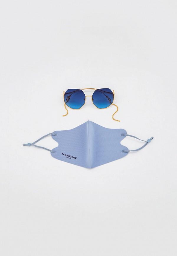 женские солнцезащитные очки for art's sake, золотые