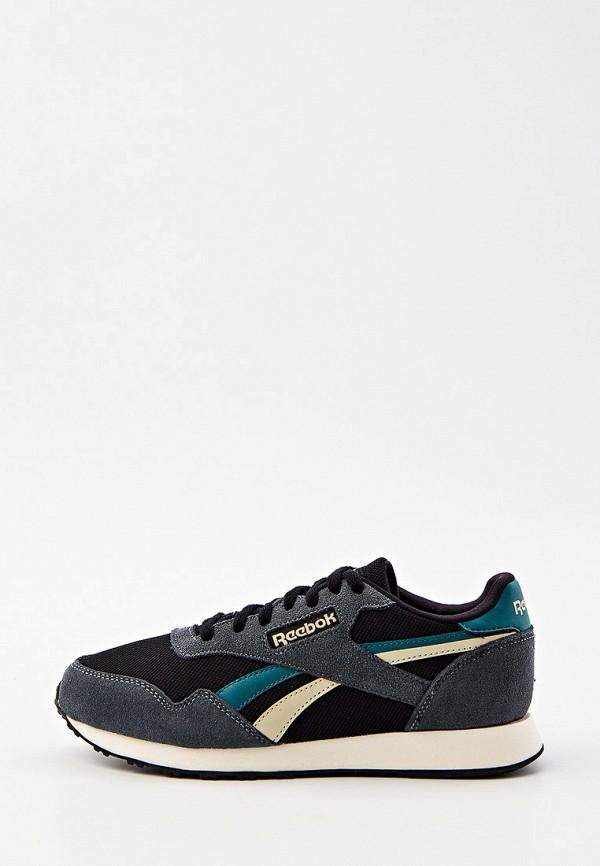 женские низкие кроссовки reebok classic, серые