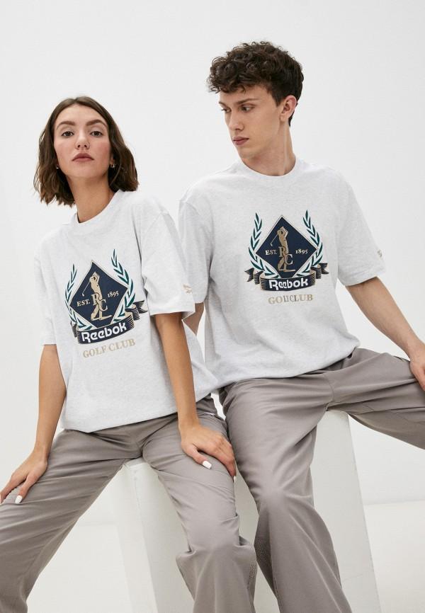 женская футболка с коротким рукавом reebok classic, серая