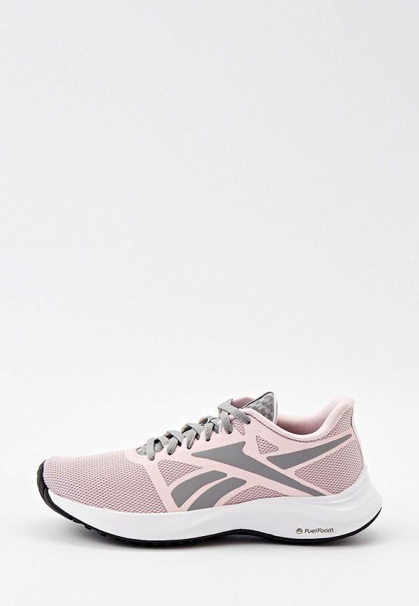 женские низкие кроссовки reebok, розовые
