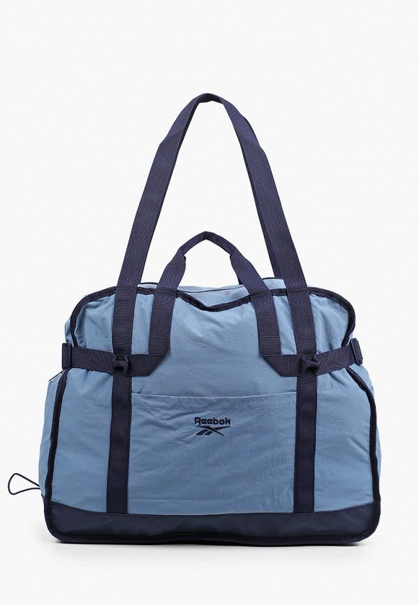 женская спортивные сумка reebok classic, голубая